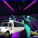 36 passengers - Our newest addition in 2020 is this 36 Passenger Krystal Party Bus. Just arrived and ready for the party!<br />This rolling dance-club has everything you could want and more! With a sound system that trumps most of the ones at the dance bars in town and the ability to stand up and dance, you won't want to get off this bus. The built-in bars make this the perfect party on wheels! Voted the best party bus in Louisville by a landslide, blowing the doors off everything else Kentucky has to offer. If you want the best, this is it!